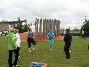 Yoga Hoofddorp warming up Sportfair door Els 2013