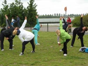 Yoga Hoofddorp op de Sportfair 2013 les Els