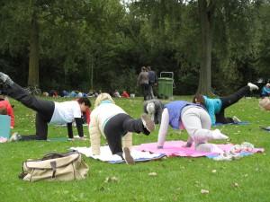Els en de workshop hatha-yoga